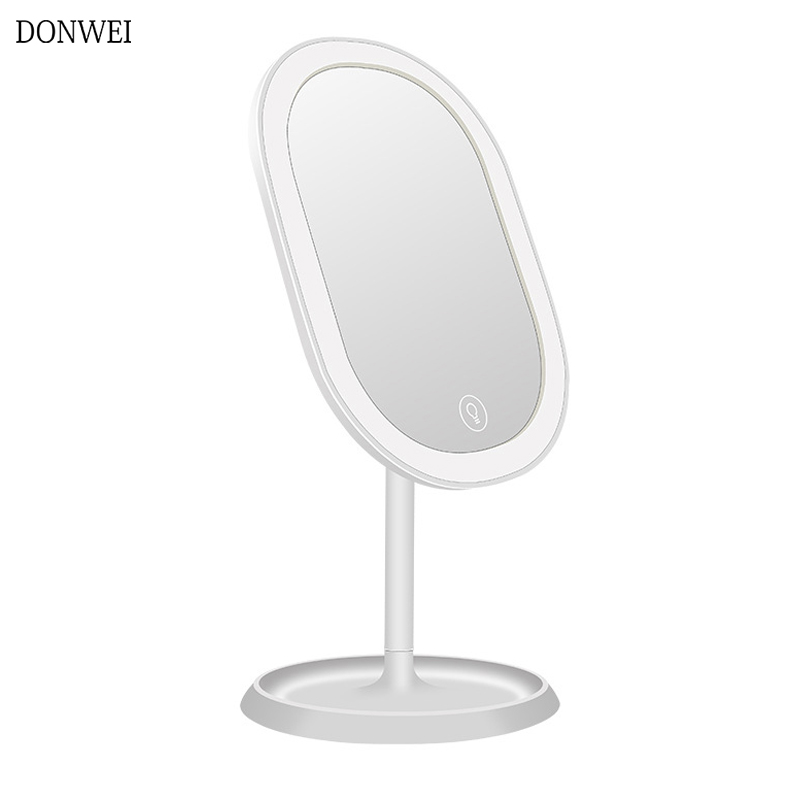Adjustable Makeup Mirror with 20 LEDs Cosmetic Mirror light with Touch Dimmer Switch USB Powered for Table Bathroom Bedroom|Vanity Lights| |  - title=