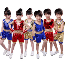 Children's jazz dance Latin dance modern dance costumes boys and girls sequins group performance dance costumes цена и фото
