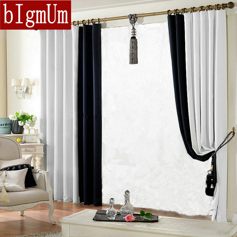 Blackout Curtains For Living Room Cloth Curtain 150 250cm Solid Color Curtain Window 39 S Treatment