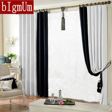 Blackout  Curtains For Living Room Cloth Curtain 150*250cm Solid Color Curtain Window's Treatment  Designs DIY