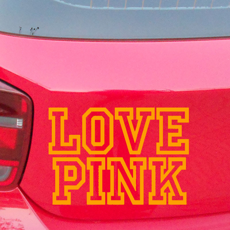 d0fc77fbcb 15.3 10.6cm New Victorias Secret Love Pink car Sticker Car Window car body  words Vinyl Decal Black Silver etc 13 color-in Car Stickers from  Automobiles ...