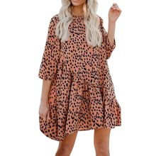 (Ship from US) Pleated buttons casual vestidos Plus Size Women Sexy Lace  Babydoll Fashion Womens Print O-Neck Club Party Cocktail Mini Dress e2bbbc610165