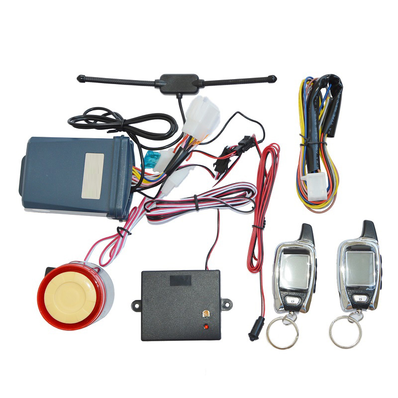 ФОТО Send by DHL 10pcs SPY two way motorcycle alarm system with 2 pcs LCD transmitters & Microwave sensor motorbike security