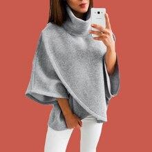 Harajuku Winter Pullover Sweatshirts Womens Poleron 2019 Plus Size Capes Cloaks Mantle Hoodie Pullover Asymmetrical Hoodie Plain halloween plus size drop shoulder graphic pullover hoodie