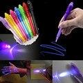 Светящаяся Волшебная пурпурная ручка 2 в 1 с УФ-черным свесветильник, набор для рисования, невидимая чернильная ручка, Обучающие игрушки для ...