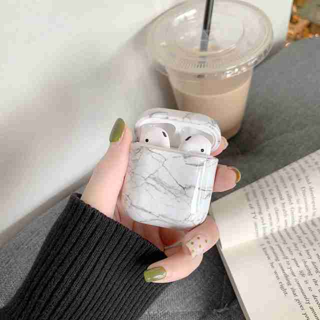 Case For Original Apple Airpods Case Marble Cute Cover For Apple Airpods 2 1 Case Accessories Headphones Air Pods Case Box Coque 4