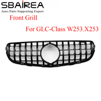 SBAIREA GLC X253 W253 Grille with Camera Hole Car Front Grill for Mercedes Benz GLC200 GLC250 GLC300 GlC450 Car Racing Grill
