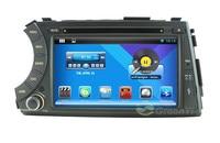 Saf Android Araba DVD GPS 3G WiFi OBD Ile Ssangyong Actyon Kyron Için DVR, araba pc bilgisayar, ses