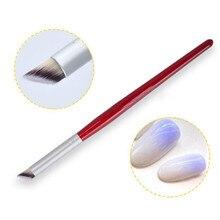 1 Pc Nail Art Gradient Dizzy Dye Brush Wood Handle Acrylic Nail Brush DIY Nail Art Tools