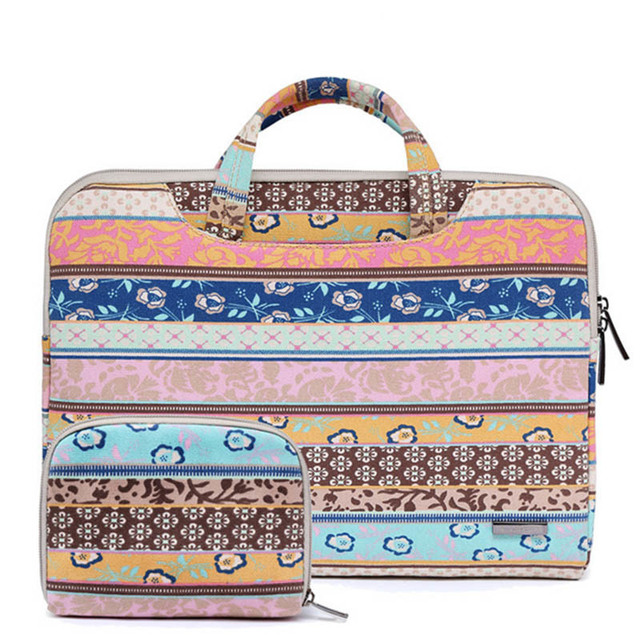85174661afc2 Fashion Laptop Bag for MacBook Air Pro 13 11 15 15.6 inch Canvas PC ...