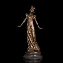 New Style Classical figurine elegant lady sculpture dressed woman bronze statue home decoration hot cast statues
