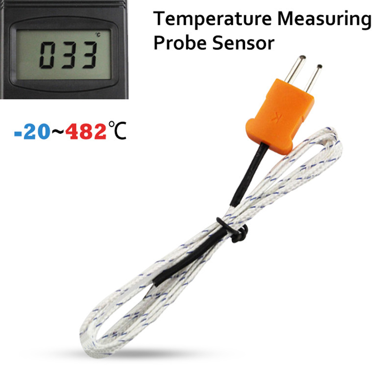 PT01 Thermocouple K Type Temperature Controller Measuring Probe Sensor Digital Thermometer Thermostat Hygrometer k type thermocouple probe temperature sensor silver 2 meters