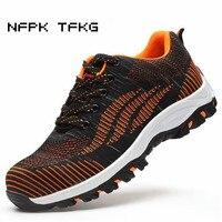 Mens Fashion Big Size Comfort Steel Toe Caps Work Safety Summer Shoes Non Slip Plate Platform