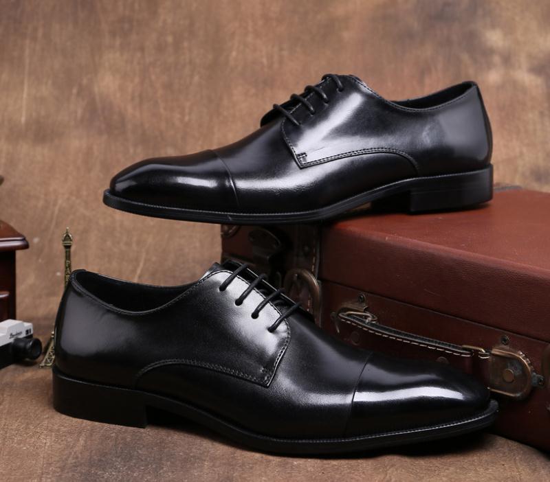 Neue Grade Packwork Derby Hohe Business Mann Mode Echtem Aus Karriere Wine Büroarbeit Der Männer Black Schuhe Hochzeit Leder Kleid red rrwv7dq