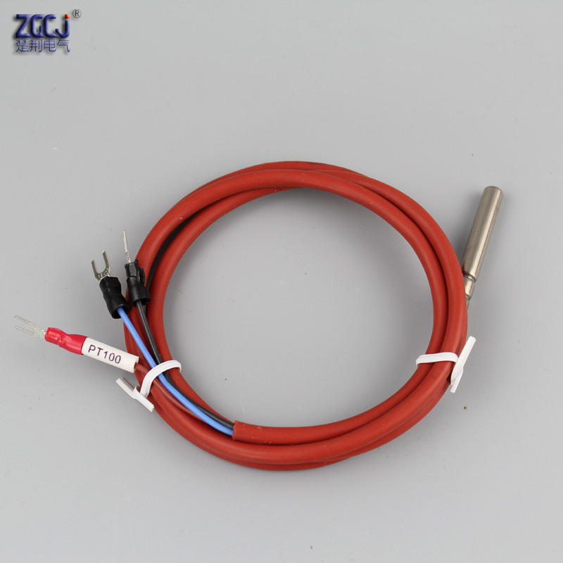PT100 thermocouple waterproof High temperature resistance thermocouple pt100 temperature sensor with silicon cable 2pcs pt100 waterproof relay thermal probe temperature sensor temperature controller