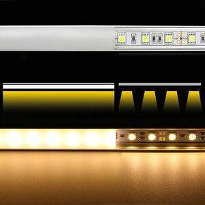 Image 5 - 2 30 комплектов/упаковка 0,5 м 12 мм с алюминиевыми профилями для 5050 5630 светодиодный алюминиевый сплав плоский корпус + крышка ПК
