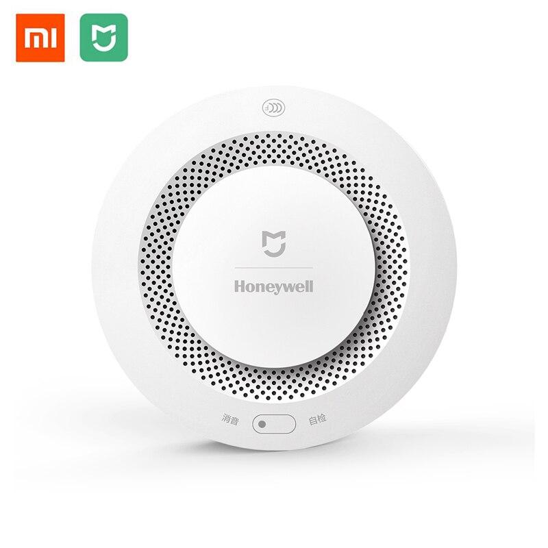Original Xiaomi Mijia Honeywell Fire Alarm Detector Audible Visual Smoke Sensor Remote Mi Home Smart APP Control xiaomi fire alarm sensor wireless smoke detector home security alarm system smart control by mijia app