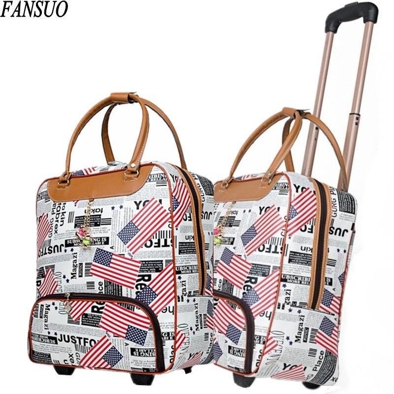 ФОТО Upgraded Version High Quality Women Fashion Travel Trolley Bag Multifunction Hand Suitcase Luggage Bag Sportsing Duffle Tug Case
