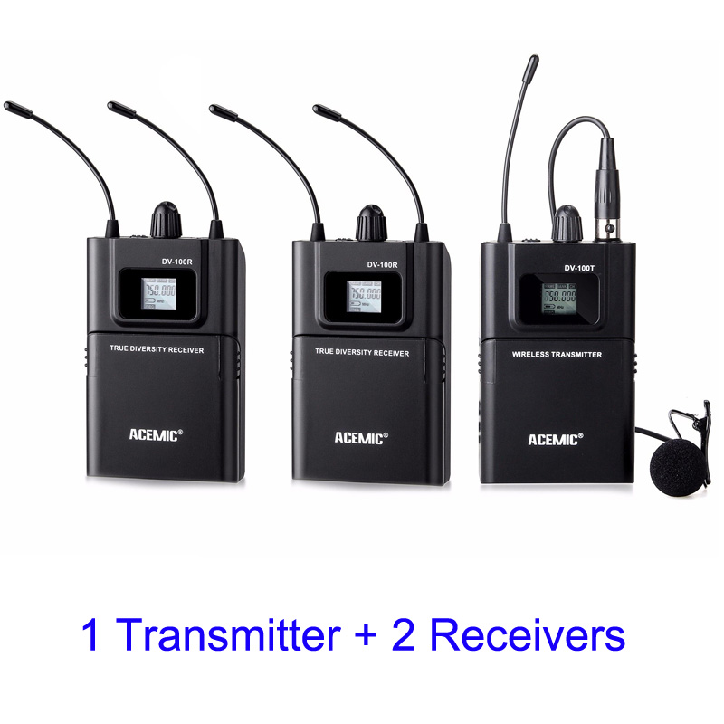 With 2 receivers. ENG/EFP Wireless DSLR Cameral Microphone System for journalist gather news, interview, TV station 2 receivers 60 buzzers wireless restaurant buzzer caller table call calling button waiter pager system