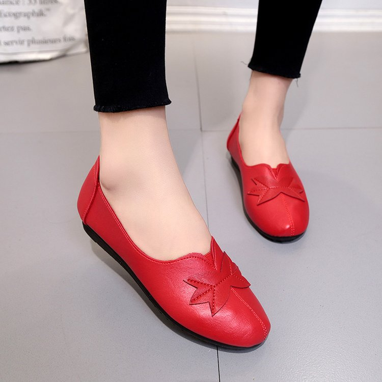 18 Soft Women Shoes Flats Moccasins Slip on Loafers Genuine Leather Ballet Shoes Fashion Casual Ladies Shoes Footwear E003 8