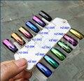 50g de ALTO GRADO de POLVO de UÑAS CAMALEÓN CROMO Espejo Holográfico Lentejuelas Nail Art Glitter Powder Uñas Pigmento Gel Esmalte de Uñas