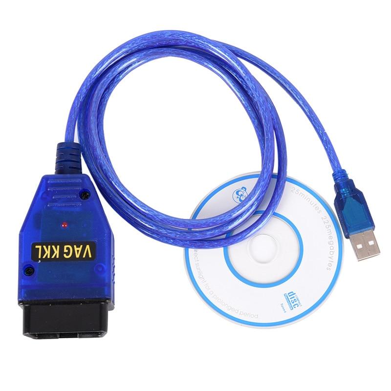 USB Cable KKL VAG-COM 409 1 OBD2 II OBD Diagnostic Scanner Seat VCDS