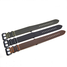 2018 New replacement Watch Band Strap crazy horse leather nato 20/mm22mm/24mm/26mm Schoolboy girl brown green For brand watches