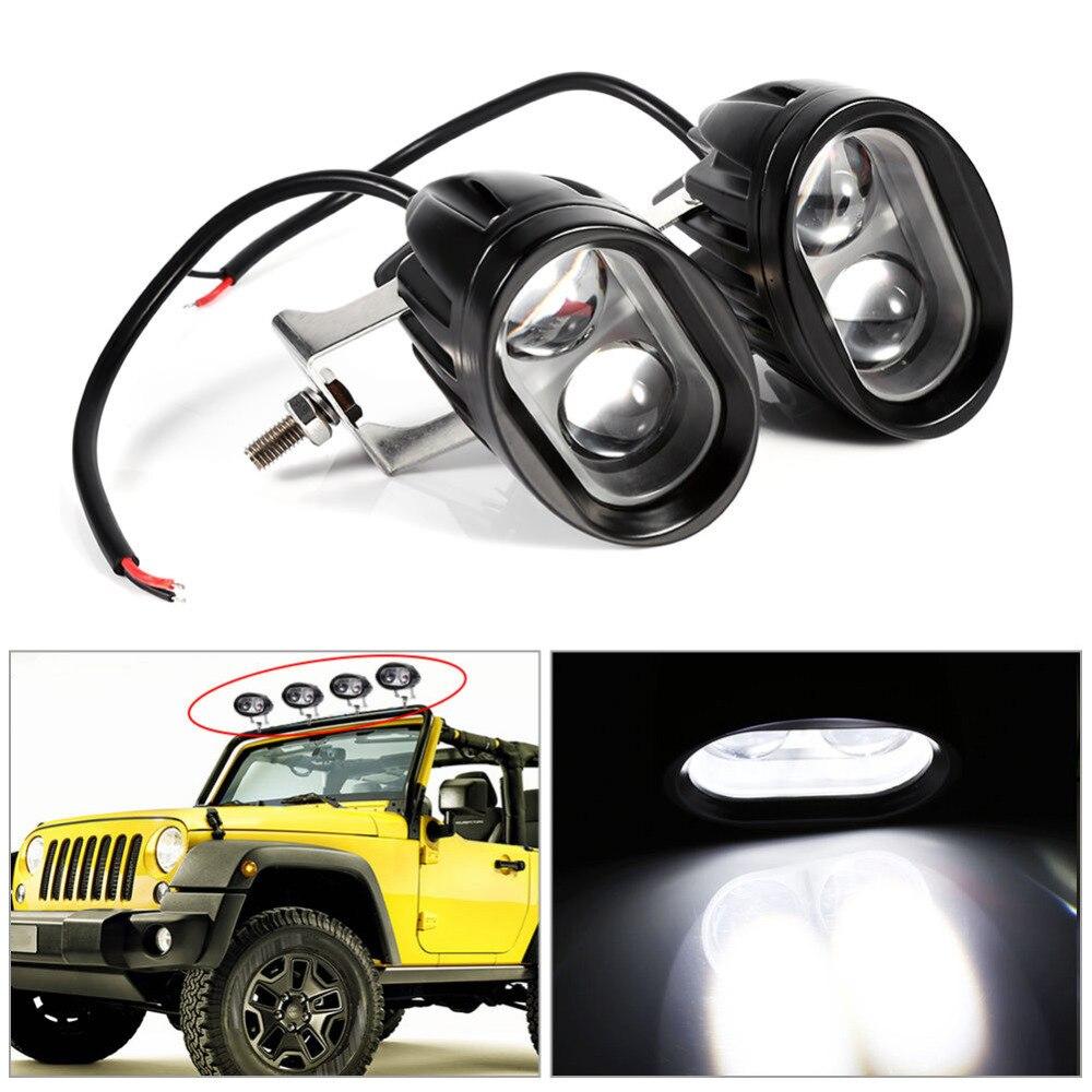 2 шт. 20 Вт 2000 люмен универсальный мотоциклетные светодиодный Работа Светлое пятно велосипедов Off Road ATV 4WD вождение автомобиля туман вспомогат... ...