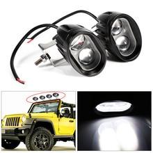 2 шт. 20 Вт 2000 люмен универсальный мотоциклетные светодиодный Работа Светлое пятно велосипедов Off Road ATV 4WD вождение автомобиля туман вспомогательный лампа