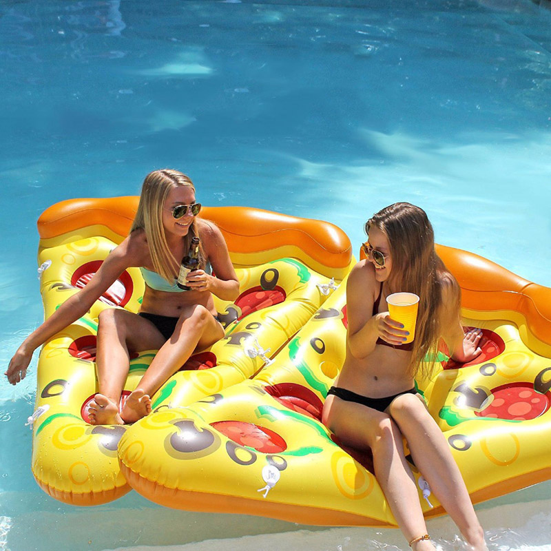 180cm Inflatable Swimming Ring Pizza Water Floating Bed Swim Pool Games Mat Raft Mattresses For Swimming Pool Toys Kid Beach Toy