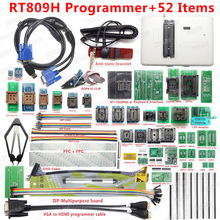 100% Original RT809H programmeur universel emmc nand programmeur FLASH + 52 articles + TSOP56 TSOP48 EDID câble VGA vers HDMI + SOP8
