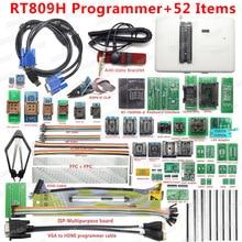 100% programador Universal Original RT809H emmc nand FLASH Programmer + 52 artículos + TSOP56 TSOP48 Cable EDID VGA a HDMI + SOP8