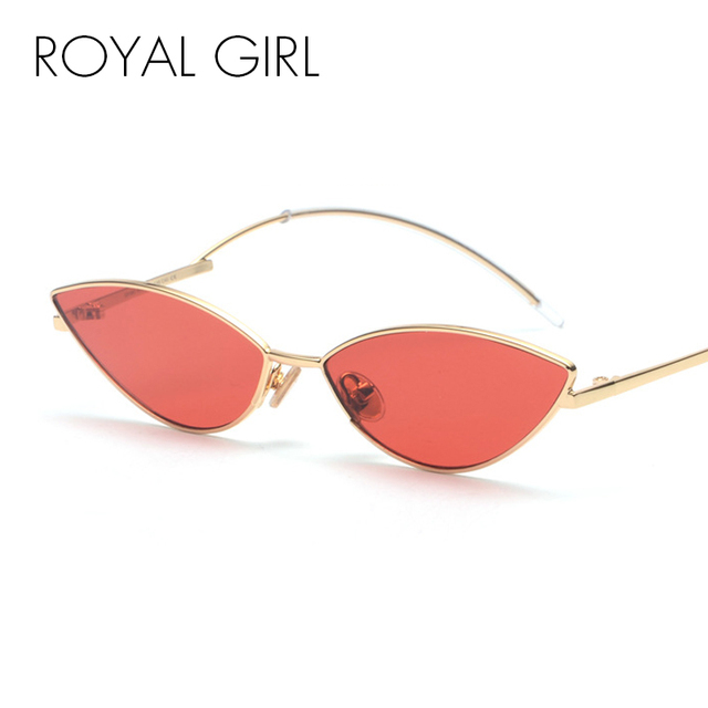 8be2681aadafd ROYAL GIRL Cute Sexy Cat Eye Sunglasses Women 2018 Summer Retro Small Frame  Black Red Cat