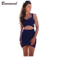 2018 new arrival summer dress two 2 piece set V neck spaghetti strap bandage dress club dress party dress vestidos