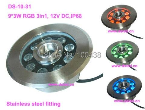 ce ip68 27 de boa qualidade alta potencia w led rgb piscina luz rgb conduziu