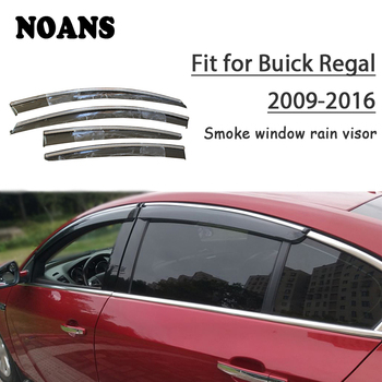 NOANS 4pcs stickers For Buick Regal 2018 2017 2016 2015-2009 Car Styling Accessories Windows Sun Rain Visor Door Shield Trim