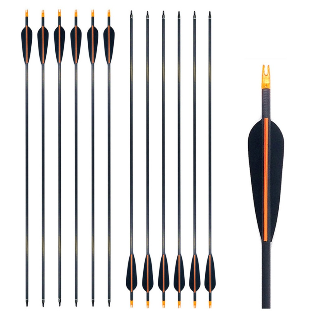 Archery Arrows Spine <font><b>400</b></font>/500/600 Carbon Shaft With 4