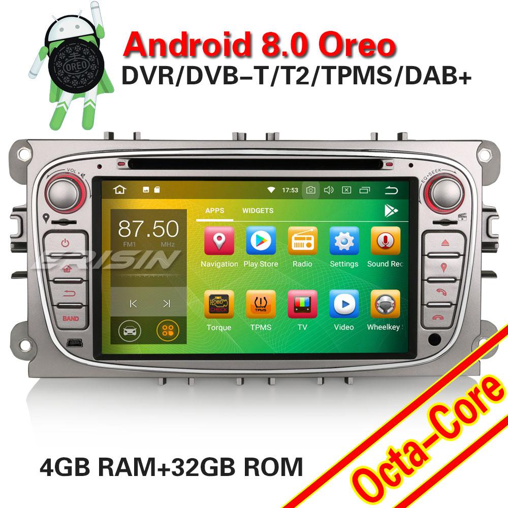 erisin es3709f 7 inch car dvd player android 8 0 4g ram. Black Bedroom Furniture Sets. Home Design Ideas