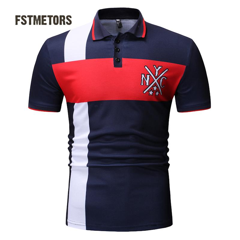 2018 men's   Polo   shirt fashion casual color breathable anti-pilling print Slim personality short-sleeved sports   POLO   shirt
