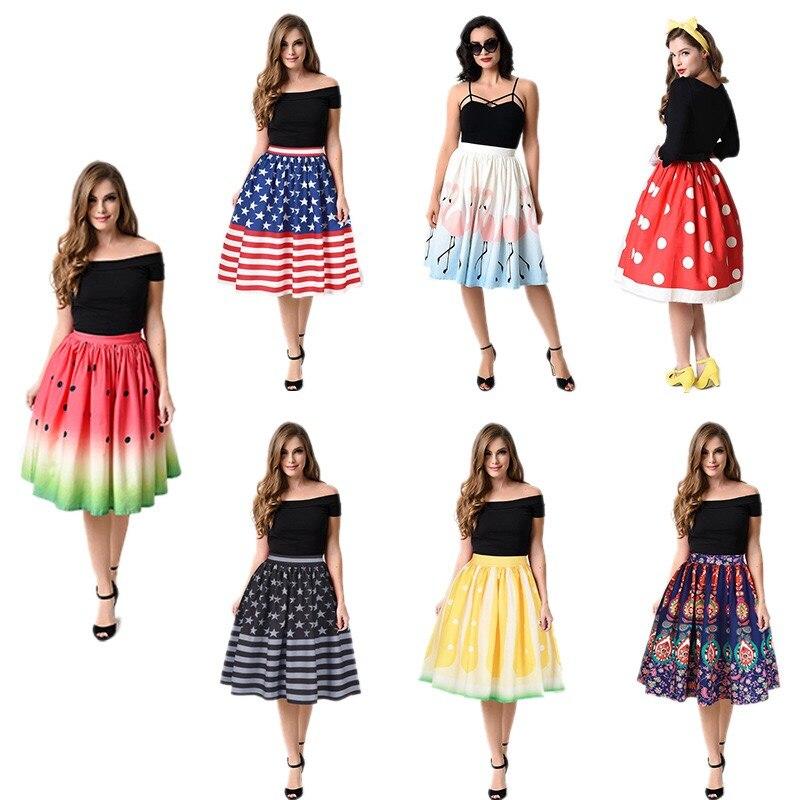 Christmas SALES 2018 snows digital printing high waist slim skirt New women pettiskirt Vestidos Robe 1130#