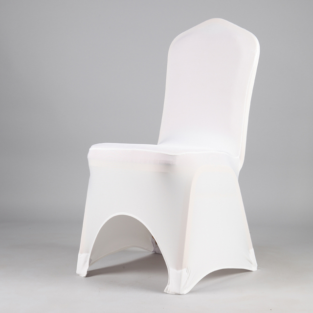 Cheap Elastic Arch Chair Cover White Wedding Party Chair Cloth For Banquet Hotel Chair