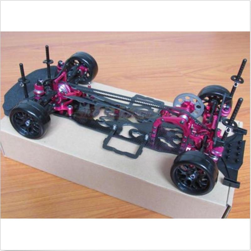 1/10 Alloy & Carbon SAKURA D4 AWD EP Drift Racing Car Frame Body Kit #KIT-D4AWD