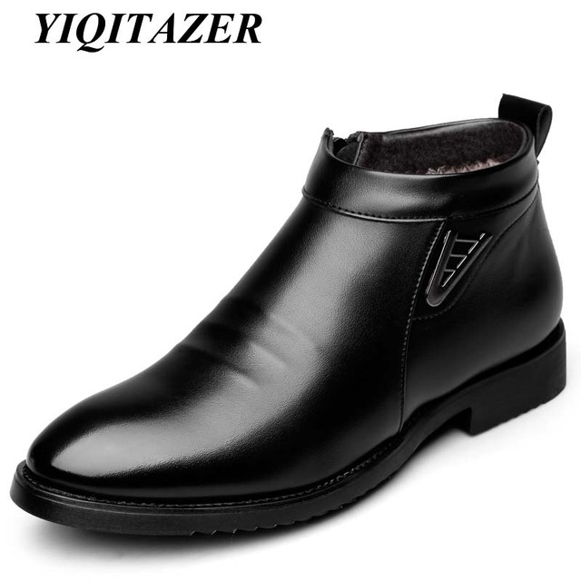 59944d57ded 2017 YIQITAZER Nieve Caliente Impermeable botines Hombre Hombres Zapatos