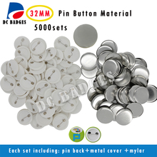 32mm 5000sets blank Plastic pinback button badge material badge Components Supplies