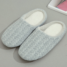 House Slippers Short Plush Warm Winter slippers Cotton Fabric Slipper woman Non slip Female