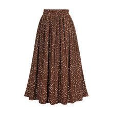 22414c7af2 2019 Spring Pleated Skirts Women Dot Printed Casual high waist Folding Skirt  Chiffon Summer Female Fashion