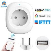 XINGG 2018 New EU Timer Wifi Socket With USB Charging Port Smart Mini Electric Power Plug