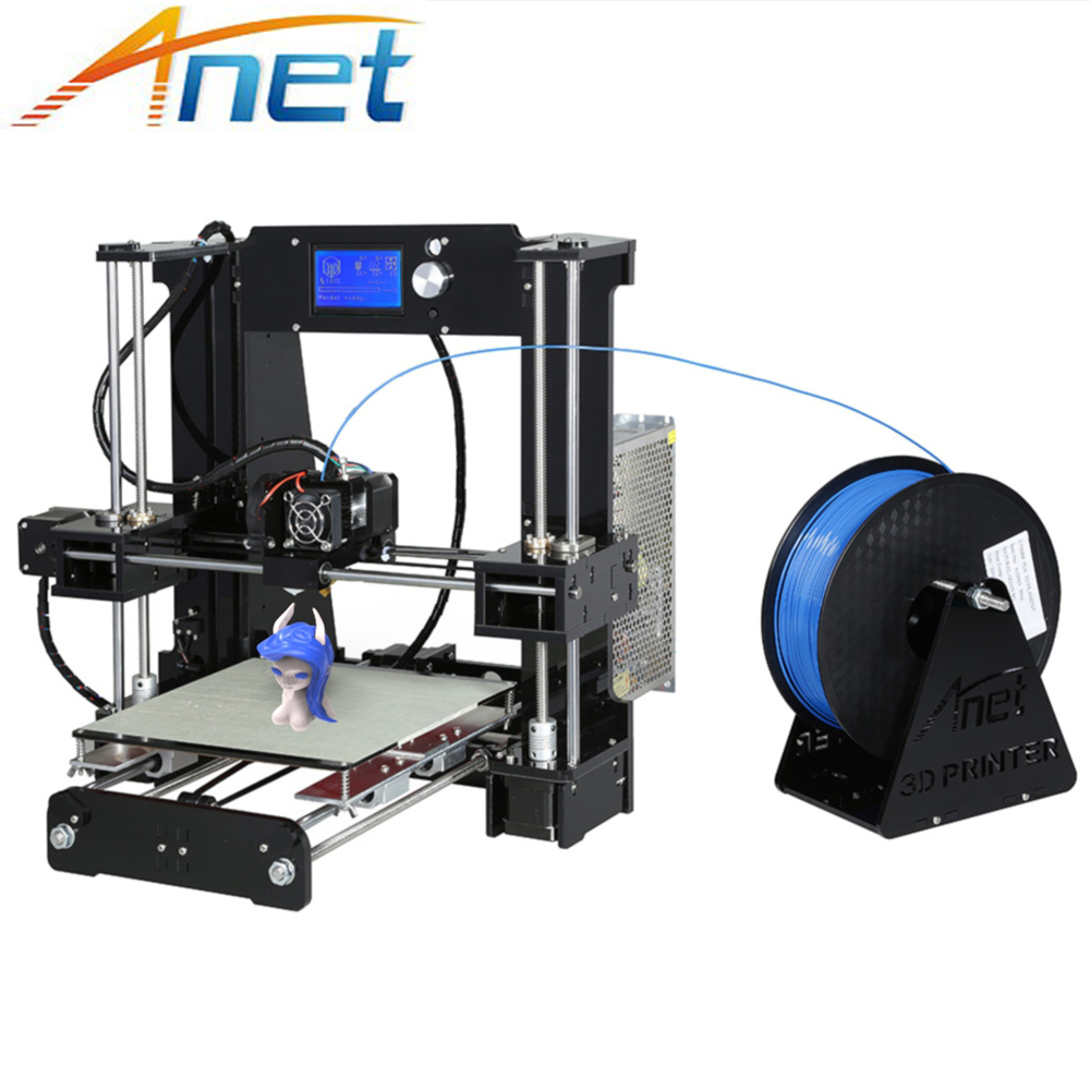 купить Anet A6 A8 3D Printer High Print Speed Reprap Prusa i3 High precision Toys DIY 3D Printer Kit with Filament Aluminum Hotbed недорого
