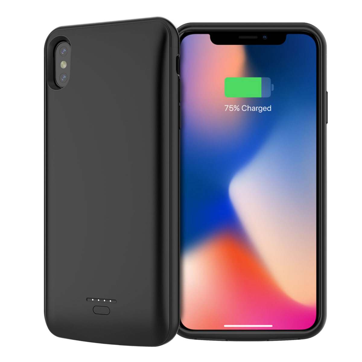 Battery Charger Case For iPhone Xs Max/Xr 5000mAh Power Bank Charging Case Powerbank Charger