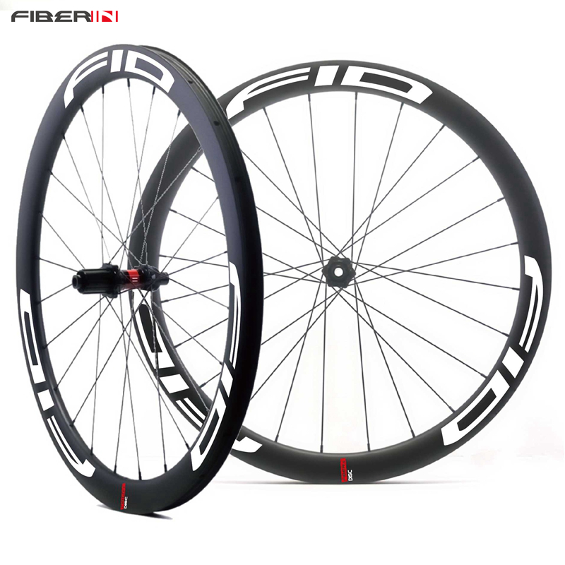 700C 45mm Carbon Tubular Disc Cyclocross Brake Hubs Wheels Carbon Bike Gravel Bicycle Disc Wheelset